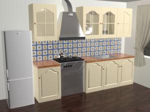 Кухонный фартук Азуро