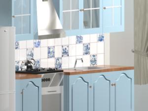 Кухонный фартук Голландские мотивыКухонный фартук Голландские мотивы