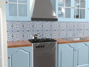 Кухонный фартук Римские цветы
