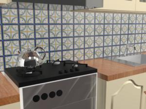 Кухонный фартук Кольца