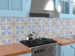 Кухонный фартук Калейдоскоп