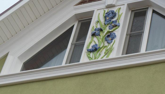 Фасадные панно серии Ирисы