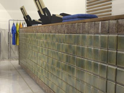 Дизайн магазина одежды с использованием керамической плитки