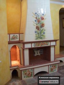 Изразцовый камин в кантри-стиле