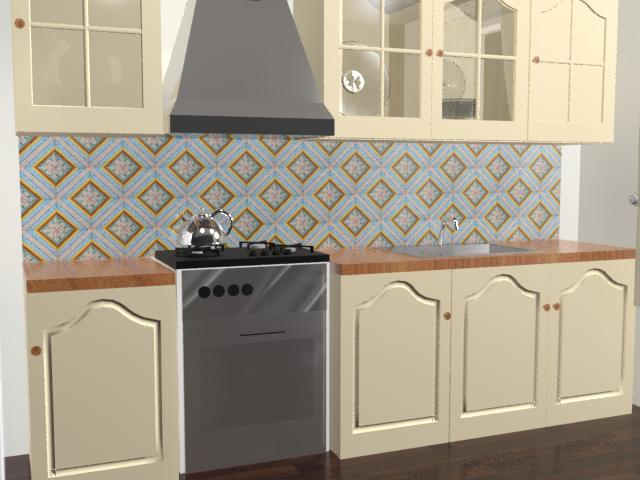 Кухонный фартук Quattro