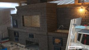 Летняя кухня Черный лофт
