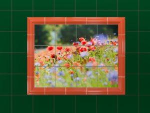 Керамическое панно «Полевые цветы»