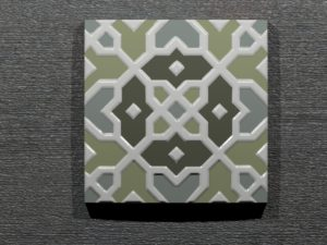 Керамическая плитка ручной работы Жасмин