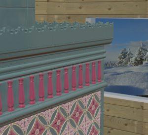 Изразцы ручной работы для печи «Зимняя сказка»
