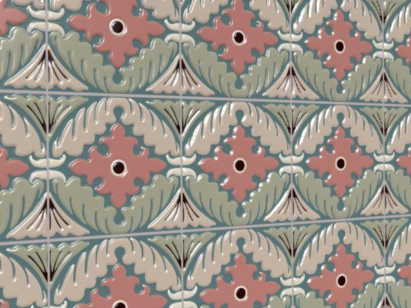 Керамическая плитка ручной работы Листья на воде
