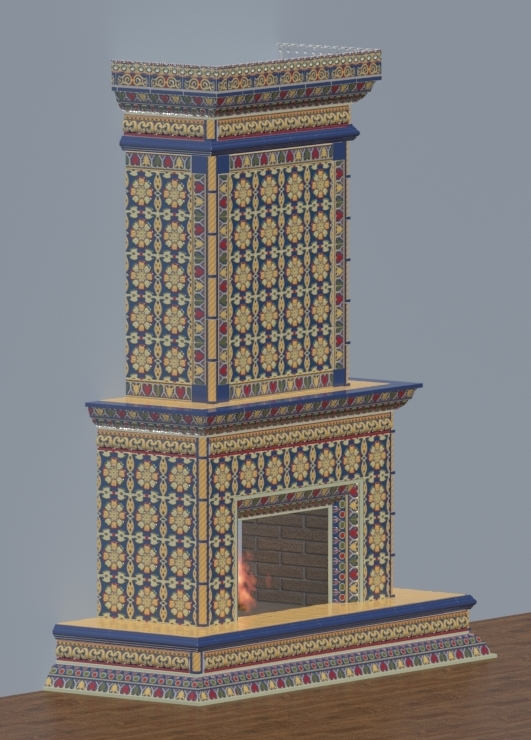 Типовой проект камина Классик