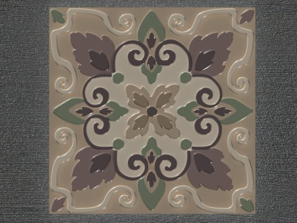 Керамическая плитка ручной работы Листопад