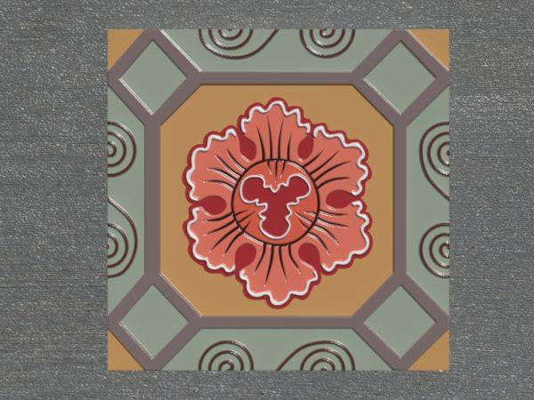 Керамическая плитка ручной работы Лотос
