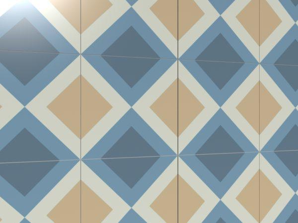 Керамическая плитка ручной работы Ромбо