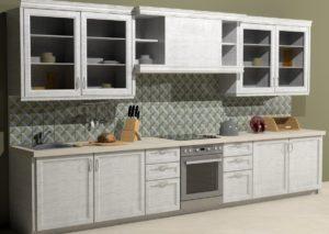 Кухонный фартук с плиткой ручной работы Южный вечер