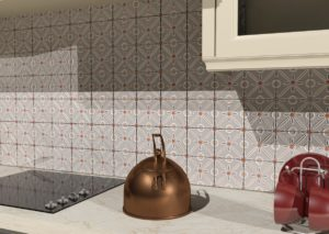 Кухонный фартук с изразцовой плиткой ручной работы Амон-Ра